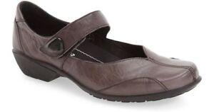 Romika Women's Taupe Gray Citylight 87 Mary Jane Shoe Elephant Leather Sz 38 NIB