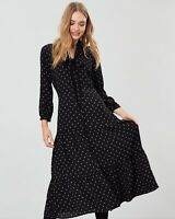 Joules Josie Black Star Print Dress Size 14 As Seen On Holly On This Morning