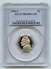 1985 S 5C Jefferson Nickel Proof PCGS PR69DCAM
