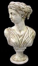 Vintage Antique Finish Greek Bust of Artemis Art Statue Sculpture Home Decor