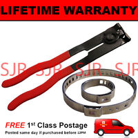 CV BOOT CLAMPS PAIR x1 EAR PLIERS x1 UNIVERSAL STAINLESS FITS ALL CARS KIT 3.1