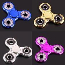 20pc/Lot Wholesale Chrome Hand Spinner EDC Tri Fidget Stress Reducer Toys Focus