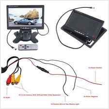 "12V 7"" LCD TFT Autos Truck Reversing Rearview Backup Digital DVD Monitor Display"