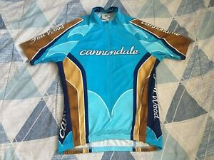 Men's Cannondale Full Moon Cycling Jersey White Short Sleeve 1/2 Zip