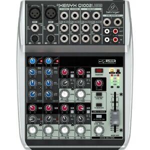 Behringer Xenyx Q1002USB 10-Input 2-Bus Mixer USB Audio Interface w/Preamps A558