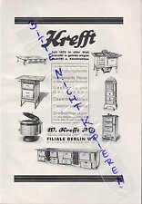 GEVELSBERG, Werbung 1928, W. Krefft AG Gas-Herde Kocher Dauerbrandöfen