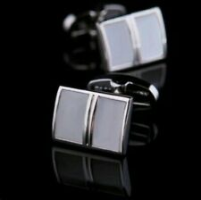 Men's Wedding Statement Cufflinks 03 Solid 925 Sterling Silver Natural Moonstone