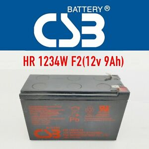 HITACHI CSB HR1234W F2 12V 34W 9Ah High Rate Deep Cycle SLA UPS Battery >7ah use