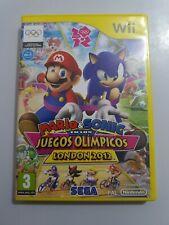 Mario y Sonic en los Juegos Olimpicos  London 2012 Wii PAL España SIN MANUAL