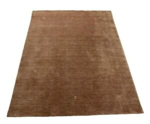 Orienttppich Loribaft Loom Hecho a Mano 100% Lana Virgen Braun Diferentes Tallas