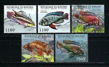 Burundi 2012 Sc#1209a-d,#1234  Fish   MNH Set $20.80