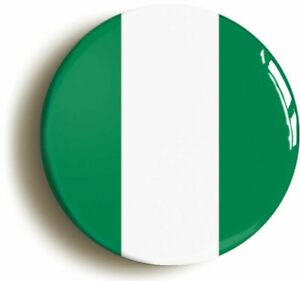 NIGERIA NIGERIAN NATIONAL FLAG BADGE BUTTON PIN