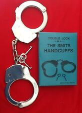 REAL HEAVY DUTY DOUBLE LOCK POLICE SMITS HANDCUFFS HANDCUFF STAG DO MILITARY