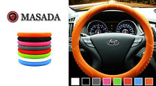 MASADA Ionized Silicone  Car Steering Wheel Cover (Orange)  -Fits to all cars
