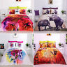 3D Effect Digital Bedding Set Duvet Cover With Pillowcases Single, Double, King