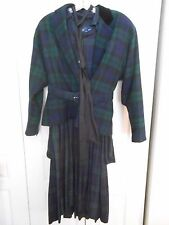 VINT. RALPH LAUREN DRESS & JACKET SET--BLACK WATCH PLAID---JACKET  8; DRESS 10