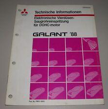 Technische Information Mitsubishi Galant Typ E30 Vierdüsen Saugrohreinspritzung!