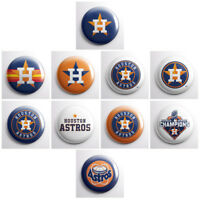 "HOUSTON ASTROS - MLB baseball pinback buttons - sports team pin - 1"" pins badges"