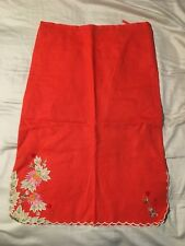 FRENCH CONNECTION BEAUTIFUL ORANGE EMBROIDERED SKIRT - Size 6