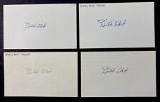 Lot Of 4 EARL DUTCH CLARK SIGNED 3x5 INDEX CARDs Football HOF Detroit Lions NFL