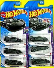 Hot Wheels 2021 - Lot of 6 - 2020 Koenigsegg Jesko - Dark Gray - HW Torque - F9