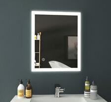 Badspiegel 100x70 cm LED Wandspiegel Badezimmerspiegel mit Beleuchtung Rechteck
