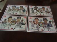 1985 Elias Detroit Tigers World Champions Placemat Complete Set of 4 - MT