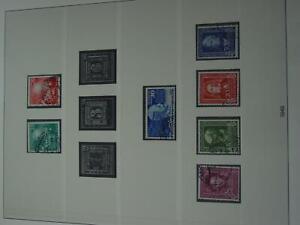 Sammlung Bund 1949-59 meist gestempelt mit 2 x Lindner-T-Vdr. (ht15)