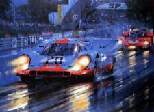 "Nicholas Watts - 1970 Le Mans – Tribute to McQueen 30"" X 40"" CANVAS GICLEE PRINT"