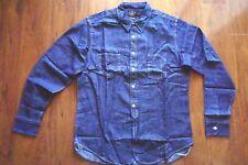 New Ralph Lauren RRL Indigo Denim Cotton Shirt Sz XL L Slim Fit