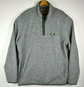 LL Bean Green Pullover 1/4 Snap Fleece Slightly Fitted Men's Size XXL Tall