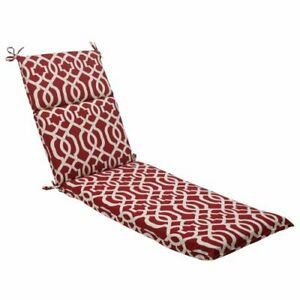 Pillow Perfect Outdoor/Indoor New Chaise Lounge Cushion 72.5 in. L X 21 in. W...