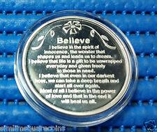 United States Apmex Believe 1 oz 999 Fine Silver Round with Box & Capsule