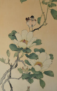 A Thomson Woodblock Print Bird and Flowers Seattle USA