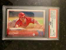 2015 Topps NO SPARKLE #300 MIKE TROUT.........PSA 8