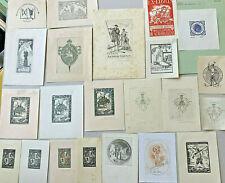 L. E. NAVARRA (E) 1908 - 1988 Lot 22 Spanish Exlibris Bookplates (1 Don Quixote)