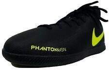 Nike Phantom Vision Indoor Soccer Shoes Size 3 Youth Black & Volt Ao3293-007