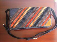 Mazzini borsa vintage in velluto e pelle + portafoglio stile Roberta di Camerino