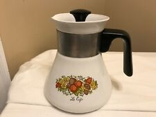 Vintage Corning Ware Spice of Life P-106 Le Cafe 6 Cup Tea Kettle / Coffee Pot