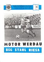 DDR-Liga 81/82 BSG Stahl Riesa - BSG Motor Werdau  30.08.1981