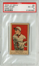1919-1921 W514 Doc Lavan #4 Strip Card PSA 6 Ex-MT High Grade Tough