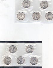 2004 P & D State Quarter 10 Coins from US Mint Set BU Statehood Cello 25c Coin