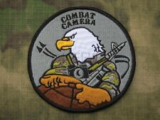COMBAT CAMERA Photographer Eagle Morale Tactical Embroidery  Patch B3147