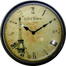 1 inch Crystal Dome Button Clock Face #17 w/ Eiffel Tower  FREE US SHIPPING