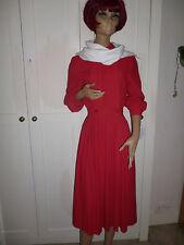 True Vintage Wallis Exclusive dress red crepe Sz 8 elegant dress for ultra slim