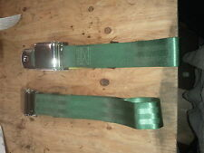 Vintage car truck c10 chevy vw Volkswagen volvo mg green lap seat belts 2 piece