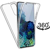 COVER per Samsung Galaxy S20 FE CUSTODIA Fronte Retro 360° SILICONE TRASPARENTE
