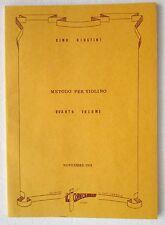 Dino Giustini METODO PER VIOLINO Volume quarto libro Il Clavicembalo
