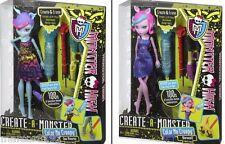 Monster High Create-a-Monster Color Me Creepy Werewolf & Sea Monster Dolls
