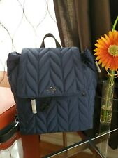 Kate Spade Large Flap Backpack Ellie Denim WKRU6004